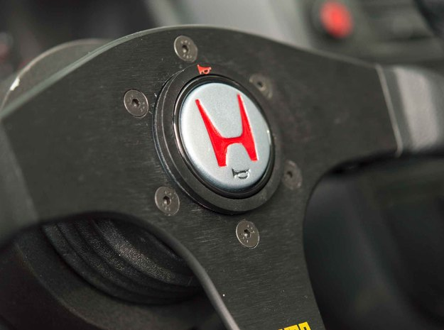 NSX-R Horn Button in Frosted Extreme Detail