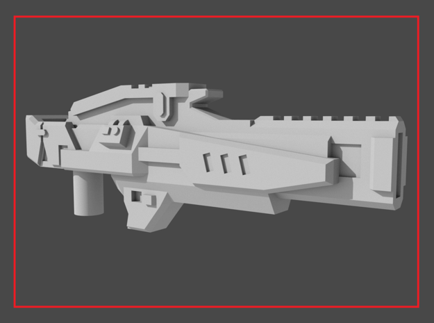 """""""ENFORCER"""" Transformers Weapon (5mm post) in White Natural Versatile Plastic"""