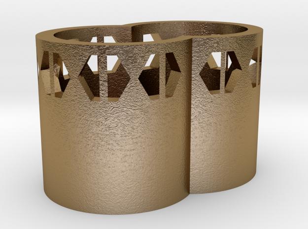 104102310筆筒(1) in Polished Gold Steel