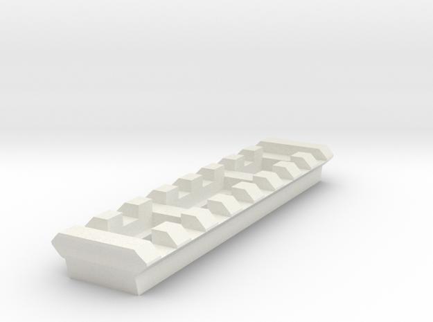 8 Slots Rail (Pre-Drilled) in White Natural Versatile Plastic