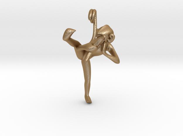 3D-Monkeys 058 in Matte Gold Steel