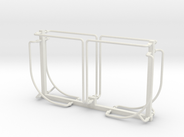 PRR N5b Cabin Car Handrail Set (1:29 Scale) in White Natural Versatile Plastic
