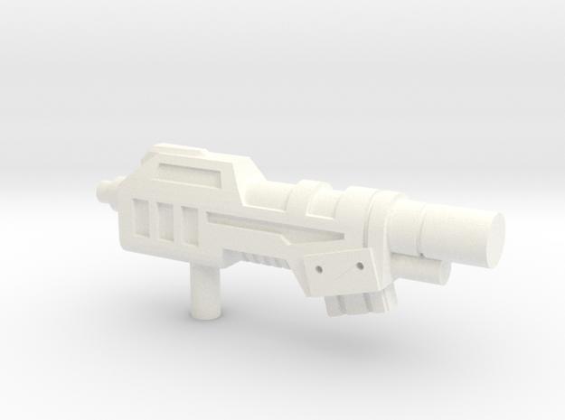 Devastator Gun1 in White Strong & Flexible Polished