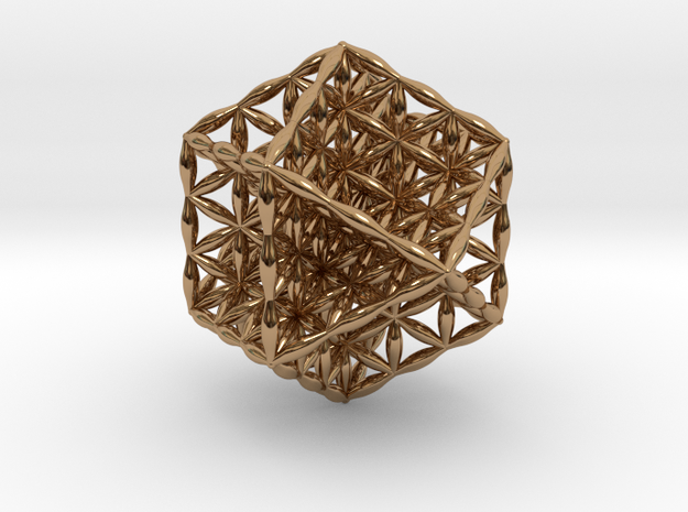 Flower Of Life Vector Equilibrium in Polished Brass