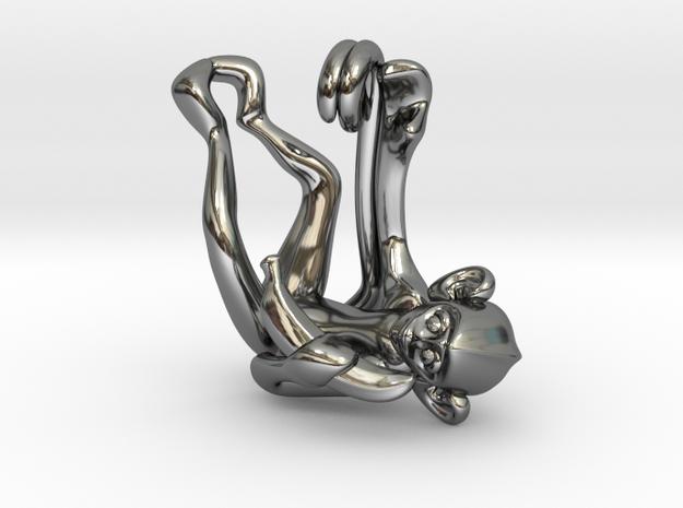 3D-Monkeys 145 in Fine Detail Polished Silver