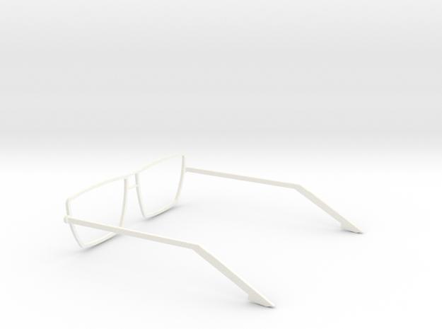 Glasses - Type4 in White Processed Versatile Plastic