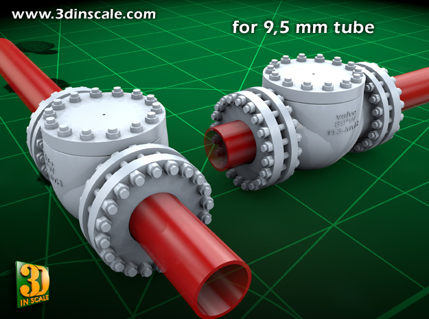 Pipeline Accessory System Valve3 - 9,5mm in Frosted Ultra Detail