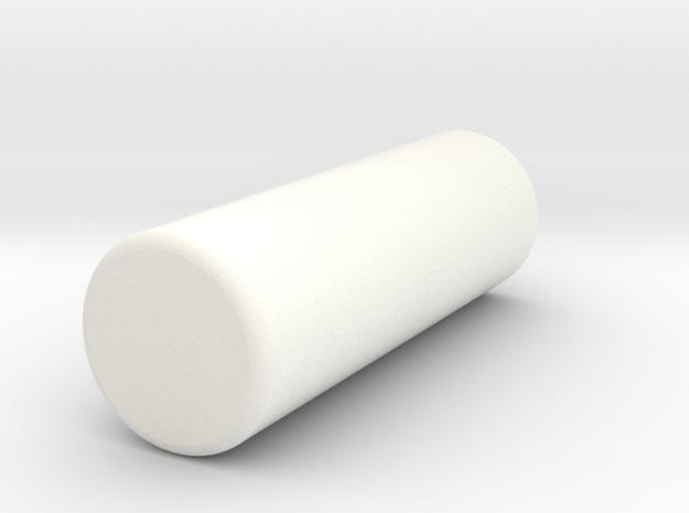 PRHI Solid Arm - Connector Peg (L/R) in White Processed Versatile Plastic