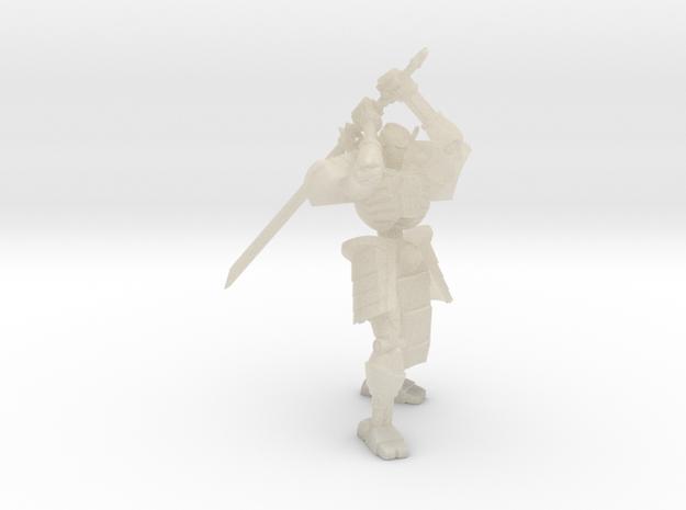 Robot Skeleton Samurai 03 in White Acrylic