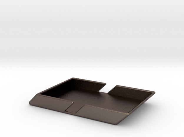 Angle Wallet-Smooth in Polished Bronzed Silver Steel
