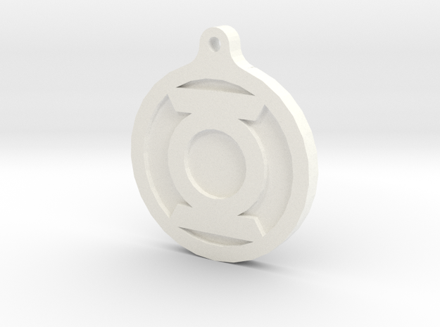 Green Lantern Key Chain 3d printed