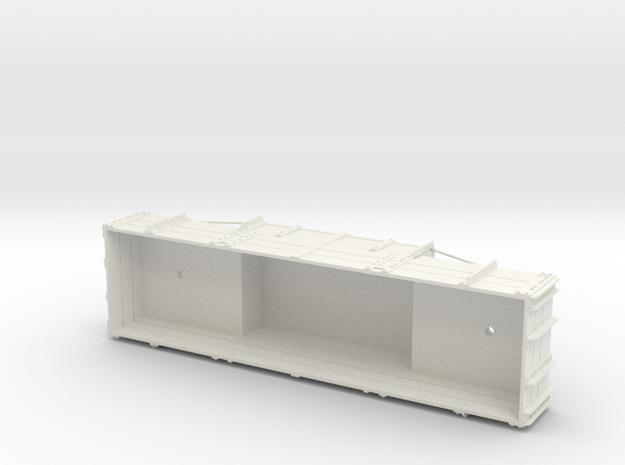 A-1-24-wdlr-e-wagon-body in White Natural Versatile Plastic