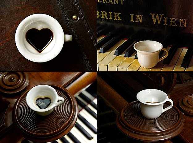 Your Secret Heart Espresso Cup (small) 3d printed Your Secret Heart Espresso Cup