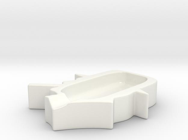 Churchill Cigar Ashtray in Gloss White Porcelain