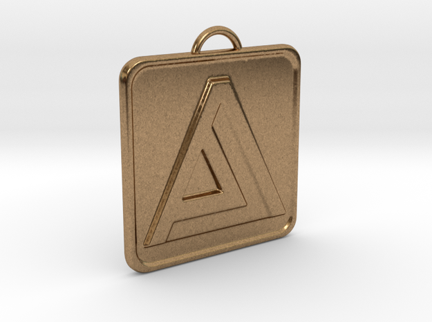 """A"" Letter Initial Pendant in Natural Brass"