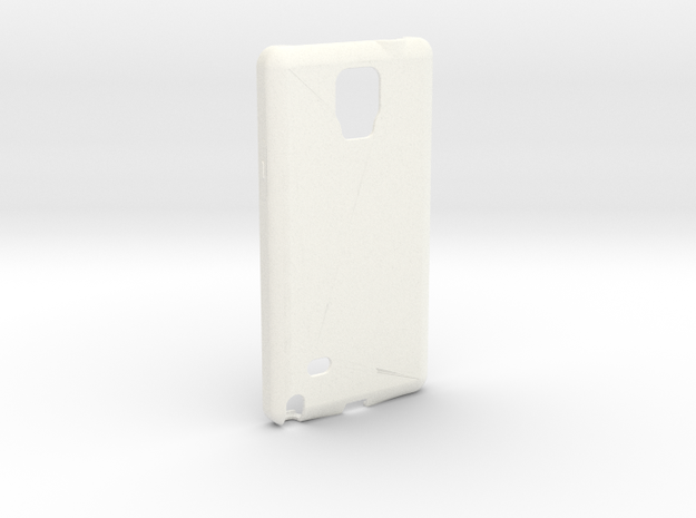 Customizable Samsung Note 4 case in White Strong & Flexible Polished