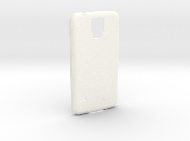 Customizable Samsung S5 case in White Processed Versatile Plastic