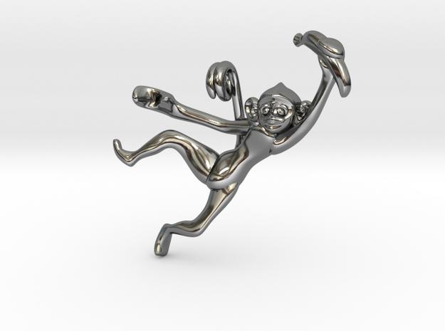 3D-Monkeys 208 in Fine Detail Polished Silver