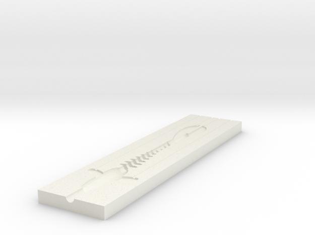 Jerk Bait mold B in White Strong & Flexible