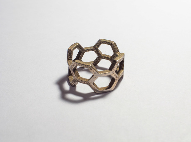 Honey Ring in Polished Bronzed Silver Steel: 8.5 / 58