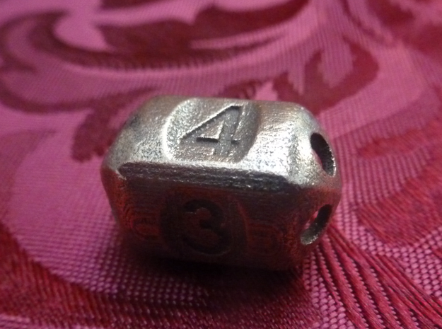 Four sided 'pepperpot' die in Polished Bronzed Silver Steel