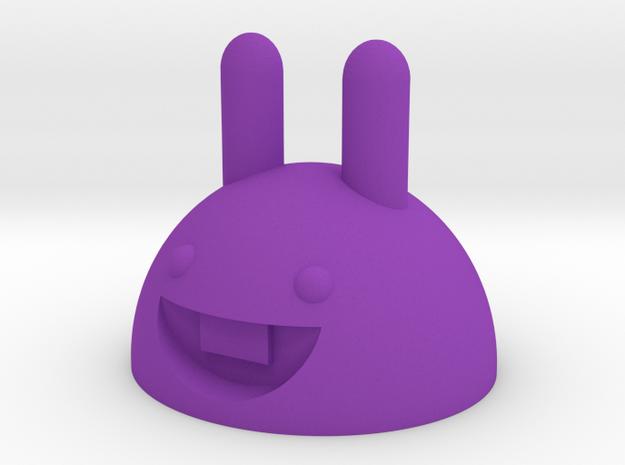 Rubber band bunny in Purple Processed Versatile Plastic