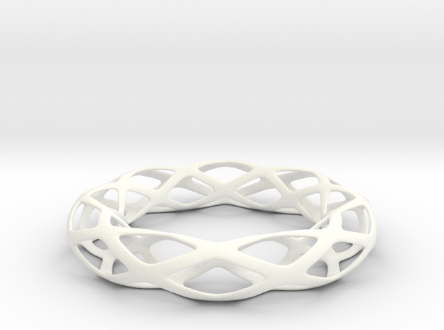 Hole Bracelet  in White Strong & Flexible Polished
