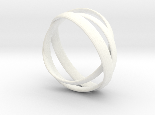 Rings in White Strong & Flexible Polished