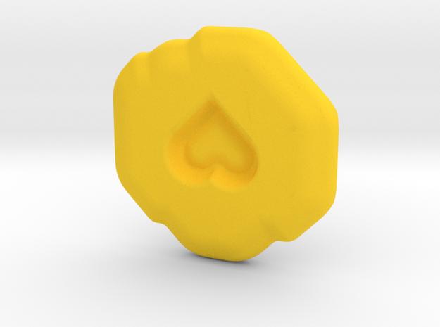 Compassion Runestone in Yellow Processed Versatile Plastic