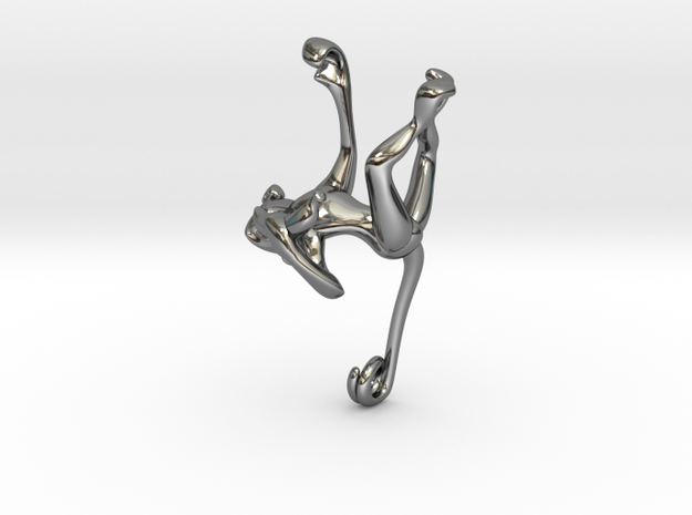 3D-Monkeys 313 in Fine Detail Polished Silver