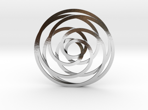 Trippleknot in Polished Silver