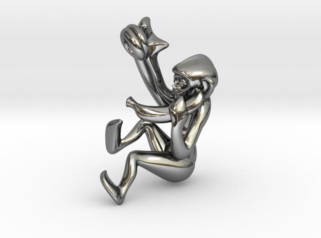3D-Monkeys 366 in Fine Detail Polished Silver
