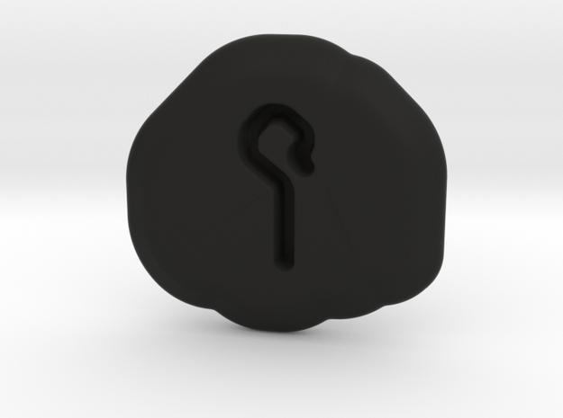 Humility Runestone in Black Natural Versatile Plastic