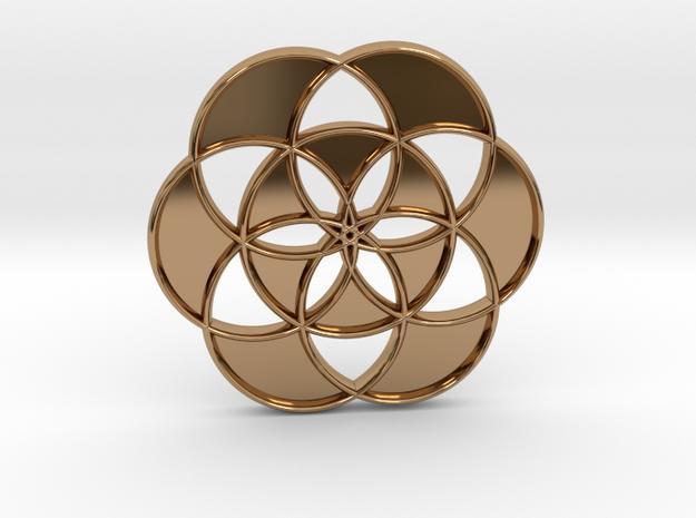 FOL - Hollow Pendant N14 Skinny in Polished Brass