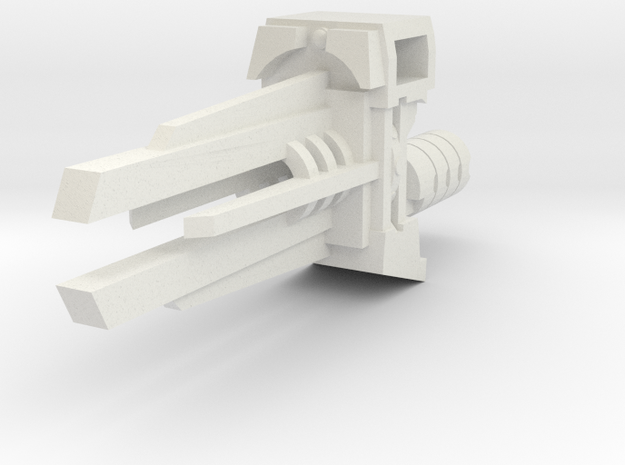 Ratchetrooper Weapon 08 - Railgun in White Natural Versatile Plastic