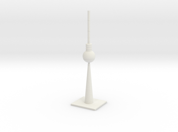 Berlin TV Tower in White Strong & Flexible