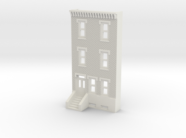 N SCALE ROW HOME FRONT 3S