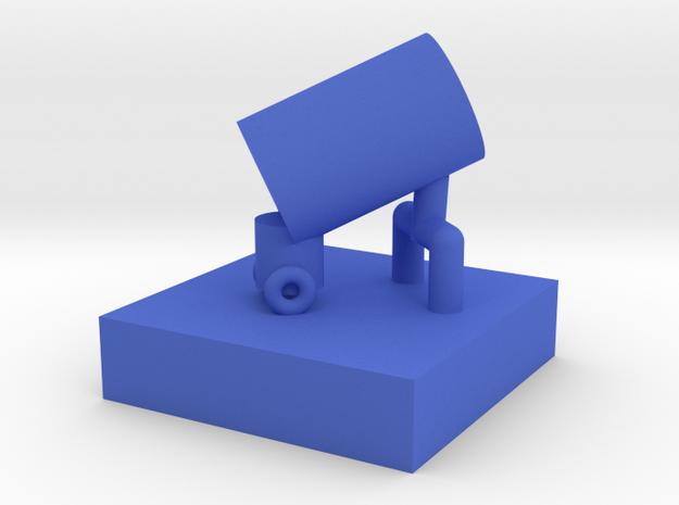 砲車筆筒.stl in Blue Strong & Flexible Polished