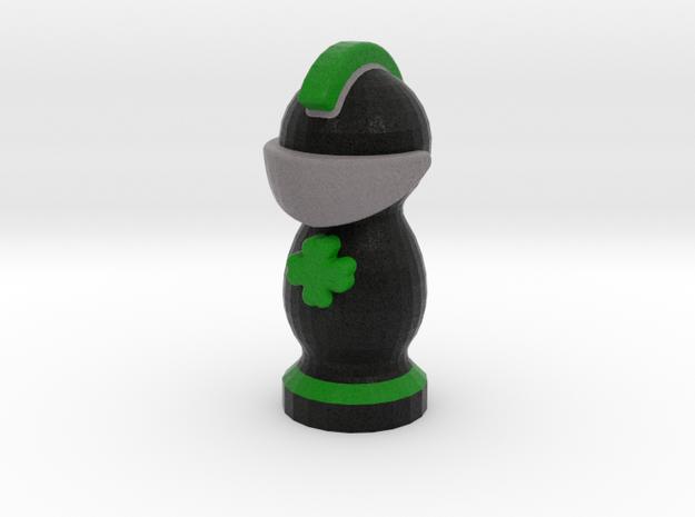 Catan Robber Knight Blk Grn Irish in Full Color Sandstone
