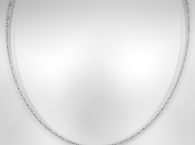 18 Inch Necklace in White Natural Versatile Plastic