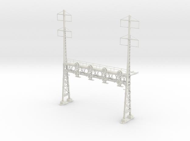 HO Scale PRR W-signal LATTICE 4 Track  W 2-2 PHASE in White Natural Versatile Plastic