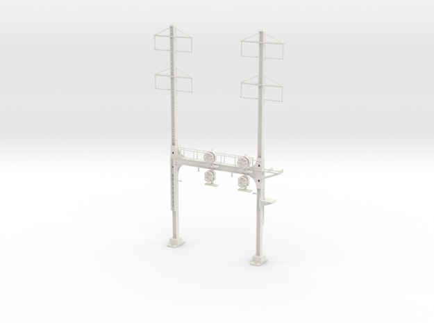 HO Scale PRR W-signal Beam 2 Track  W 2-2 PHASE R in White Strong & Flexible