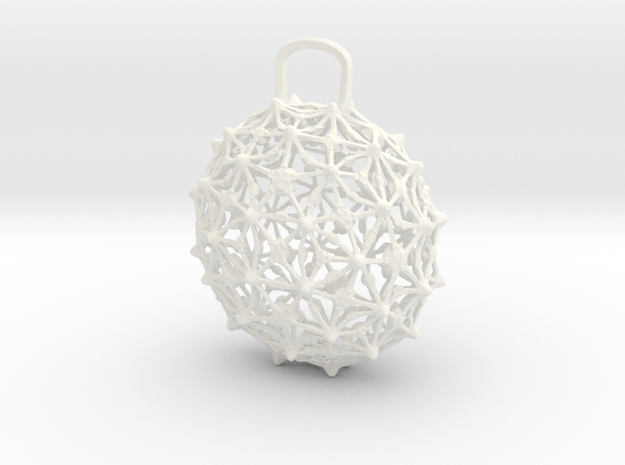 Pendant1 in White Strong & Flexible Polished