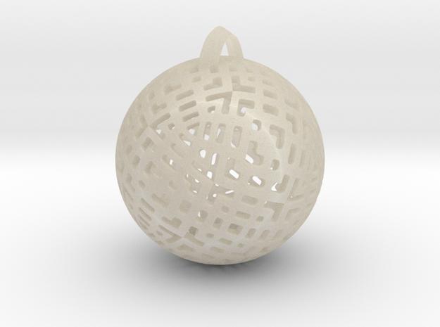 Tetra Ball in White Acrylic