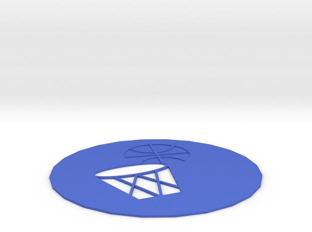 Basketball Coasters in Blue Processed Versatile Plastic