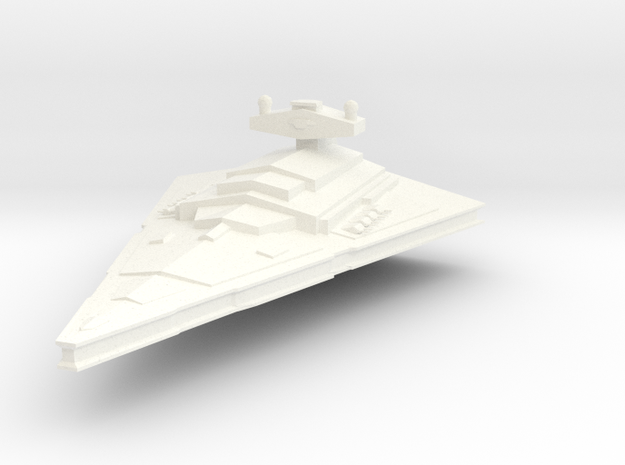 Imperial-I Star Destroyer. in White Processed Versatile Plastic