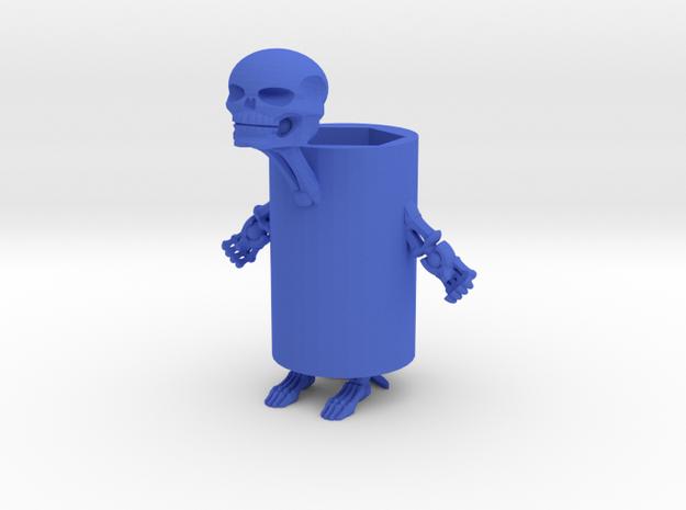 骷喽筆筒 in Blue Strong & Flexible Polished