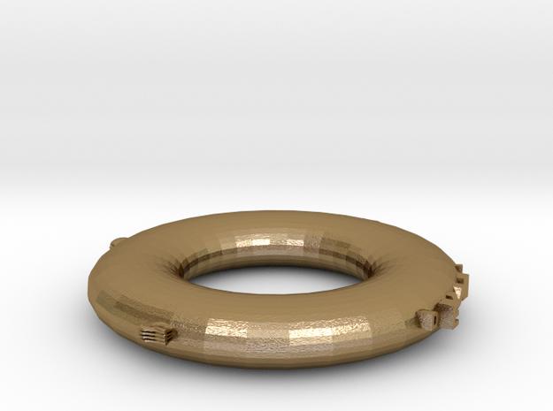惡魔戒指 in Polished Gold Steel