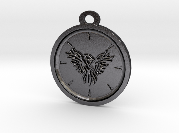 Eagle Pendant in Polished and Bronzed Black Steel
