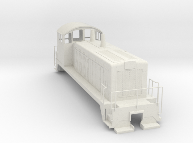EMD SW7 0Scale WithoutMetalParts in White Natural Versatile Plastic